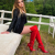 Red Lace Up Stiletto Heels Over-the-Knee Long Boots