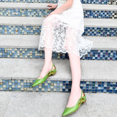 Nicepairs Cut-out Side Pointy Toe Flats For Girls